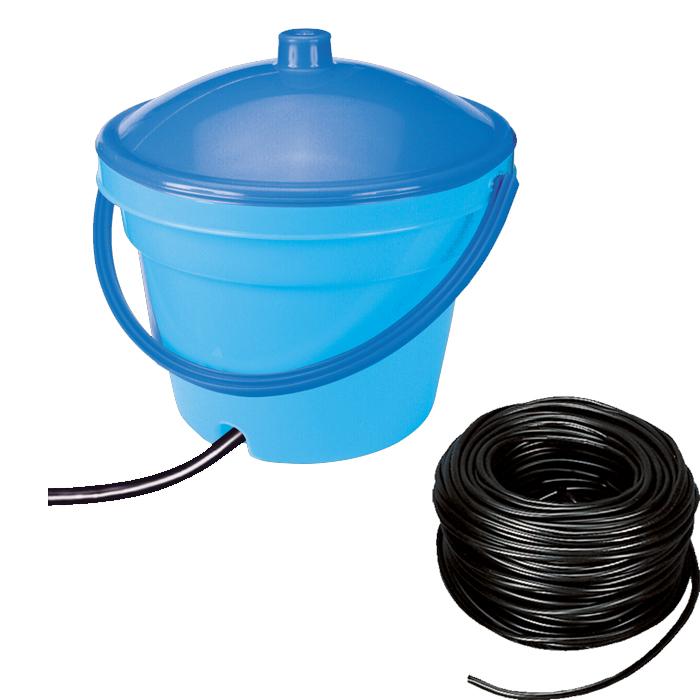 Serbatoio 12 litri + rotolo (10 m) di tubo da 10mm